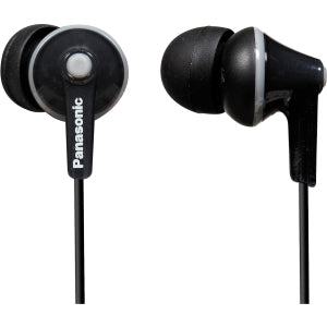PANASONIC RP-HJE125-K Stereo Ergo Fit Earphones (Black)