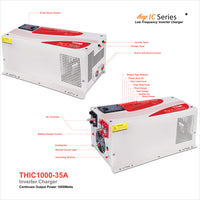 THOR THIC1000-35 1000 Watt Pure Sine, 12V Inverter/35 Amp Charger