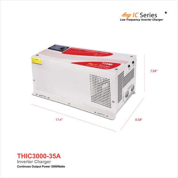 THOR THIC3000-35 3000 Watt Pure Sine 12V Inverter/35 Amp Charger