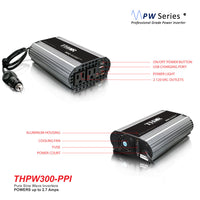 THOR THPW300-PPI 300 Watt Pure SINE Wave Inverter 12V with USB 2.1