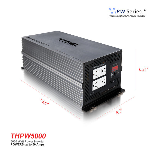 THOR THPW5000 5000 Watt Pure SINE Wave Inverter 12V with USB 2.1