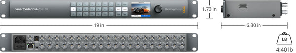 BLACKMAGIC VHUBSMART6G2020 Smart Videohub 20 x 20