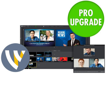 TELESTREAM WC-PRO-W-UPG7-PRO Wirecast Pro (Win) Version Upgrade from 4.x - 7.x to Current