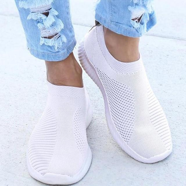 Sock Sneakers Super Licht En Ademend Wit