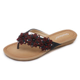 Summer Fashion Flower Design Classy Slip-On Flats in Two Colors-Diivas