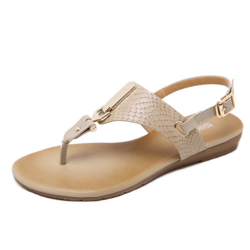 Women Flip Flops Summer Casual Ankle Strap Thong Flat Sandals-Diivas