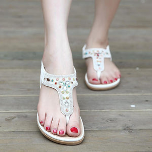 Women's Jeweled Cushioned Foot bed Sandals in Two Colors-Diivas