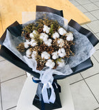 Bouqet of Cotton Flowers and Acorns