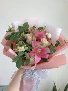 Pink Bouqet of Assorted Flowers