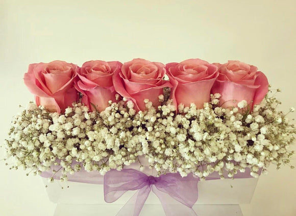 Tray of Roses with Fillers