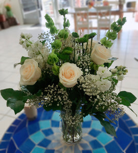 Roses with Fillers for Centerpiece