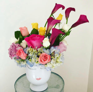 Assorted Flowers with Vase