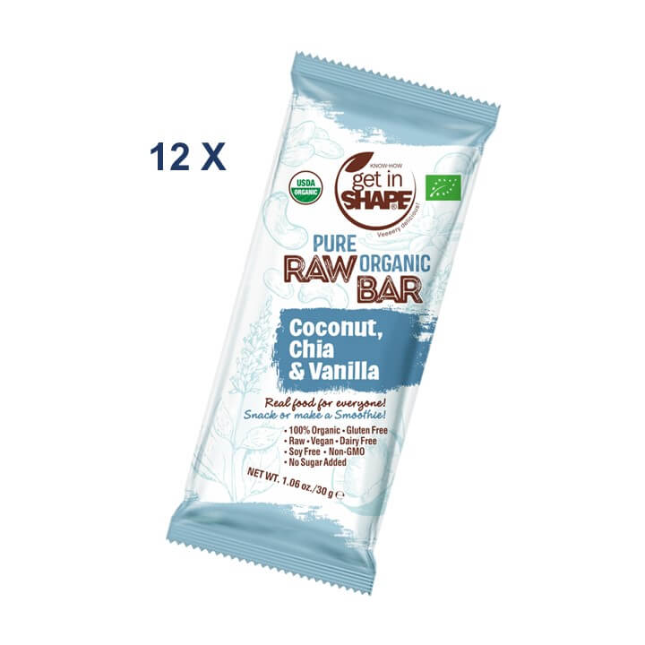12 Bar Box - Energy Bar Coconut, Chia & Vanilla