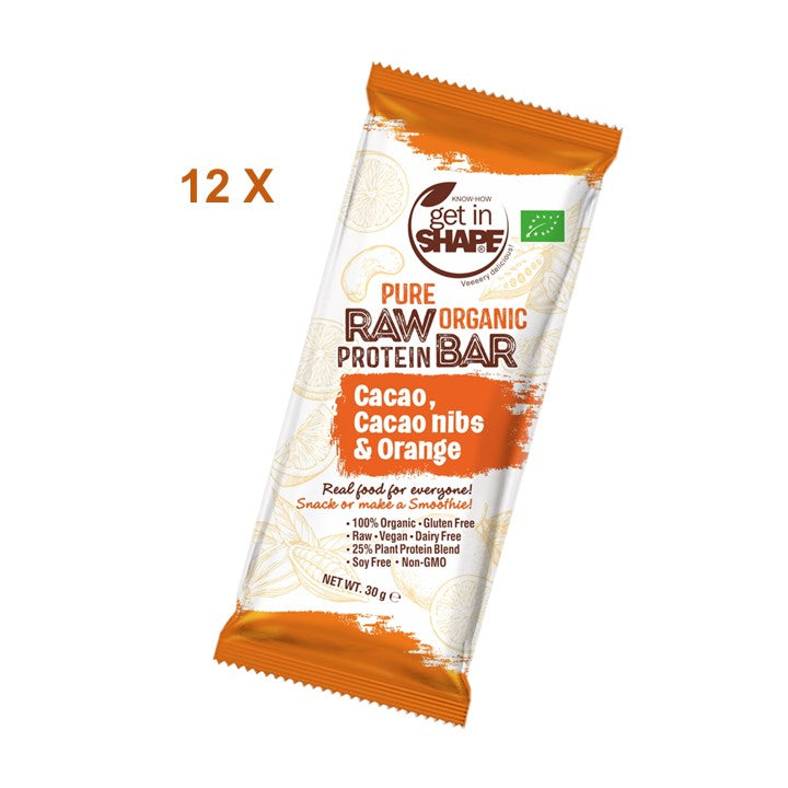 12 Bar Box - Protein Bar Cаcаo, Cаcаo nibs & Orange