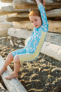 Baby and toddler one piece rash guard