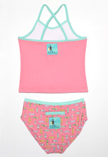 Load image into Gallery viewer, Talula Raspberry Surfboard Tankini Set