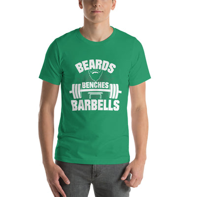 Beards Barbells and Benches Tee