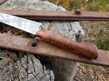 Load image into Gallery viewer, 225mm Gyuto in RWL-34 and Blackwood with Myrtle, brass and G10