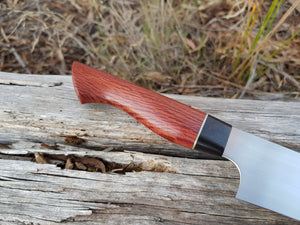 275mm sujihiki in Nitro-V with she-oak and redgum