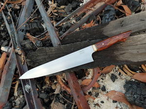 225mm Gyuto in RWL-34 and Redwood Lace Burl