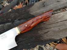 Load image into Gallery viewer, 225mm Gyuto in RWL-34 and Redwood Lace Burl
