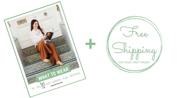 Free shipping and style guide for Happy Mail