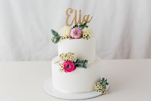 Name cake topper for birthday