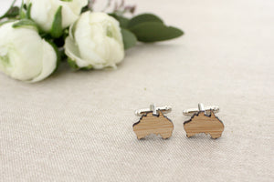 Australia cufflinks - jewellery - eco friendly - sustainable jewelry - jewelry - One Happy Leaf