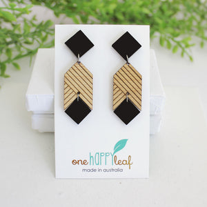 Statement earrings, black