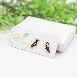 Australian bird magpie earrings