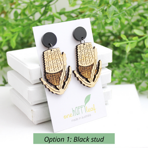 Banksia flora earring Australian native earrings