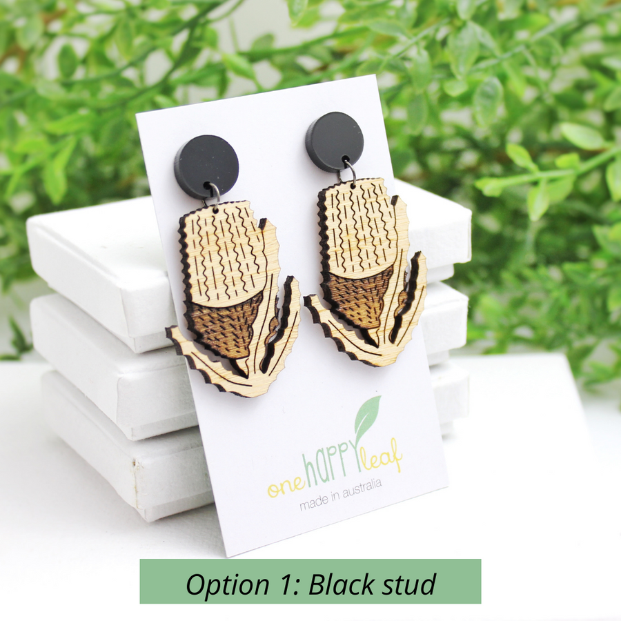 Banksia earring Australia flora earrings