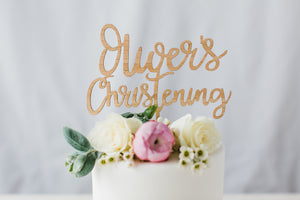 custome christening cake topper australia