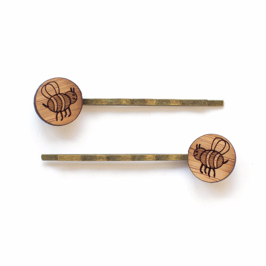 Bee hair pins - jewellery - eco friendly - sustainable jewelry - jewelry - One Happy Leaf