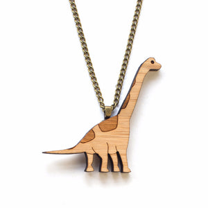 Brachiosaurus necklace - jewellery - eco friendly - sustainable jewelry - jewelry - One Happy Leaf