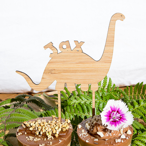 Dinosaur Brachiosaurus Cake Topper - jewellery - eco friendly - sustainable jewelry - jewelry - One Happy Leaf