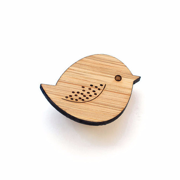 Chubby bird brooch - jewellery - eco friendly - sustainable jewelry - jewelry - One Happy Leaf
