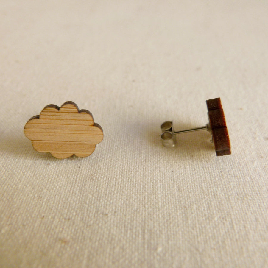 Cloud studs - jewellery - eco friendly - sustainable jewelry - jewelry - One Happy Leaf