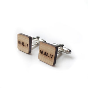 Customised date cufflinks - jewellery - eco friendly - sustainable jewelry - jewelry - One Happy Leaf
