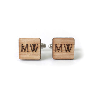 Customised initials cufflinks - jewellery - eco friendly - sustainable jewelry - jewelry - One Happy Leaf