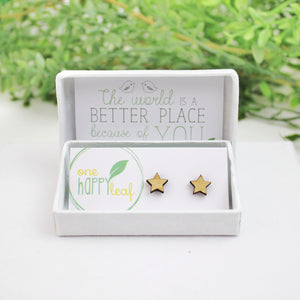 Star earrings, star studs, cute star earrings, australia made eco jewellery