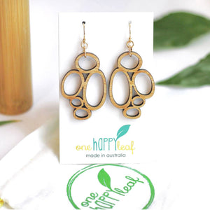 Eco bamboo earrings