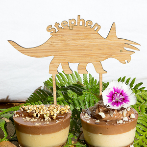 Dinosaur triceratops Cake Topper - jewellery - eco friendly - sustainable jewelry - jewelry - One Happy Leaf