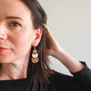 Tribe dangle earrings - jewellery - eco friendly - sustainable jewelry - jewelry - One Happy Leaf