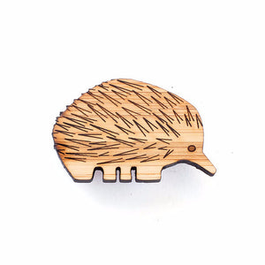 Echidna brooch - jewellery - eco friendly - sustainable jewelry - jewelry - One Happy Leaf