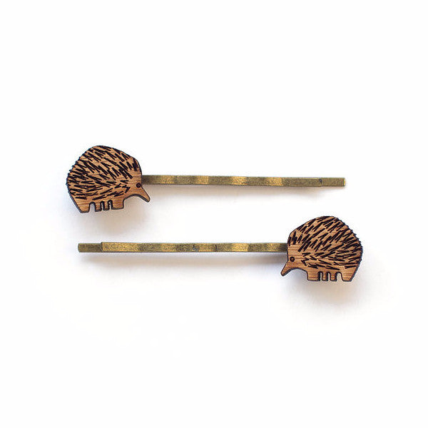 Echidna hair pins - jewellery - eco friendly - sustainable jewelry - jewelry - One Happy Leaf