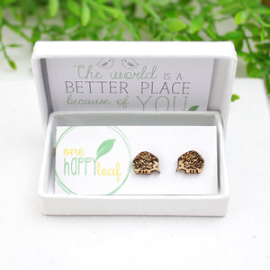 Echidna stud earrings