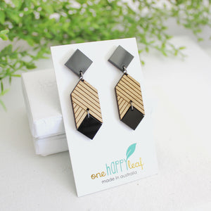 Statement earrings, nighttime