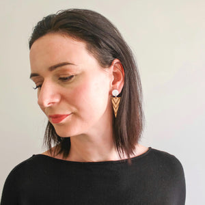 Fire star studs - jewellery - eco friendly - sustainable jewelry - jewelry - One Happy Leaf
