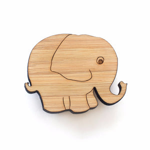 Elephant brooch - jewellery - eco friendly - sustainable jewelry - jewelry - One Happy Leaf